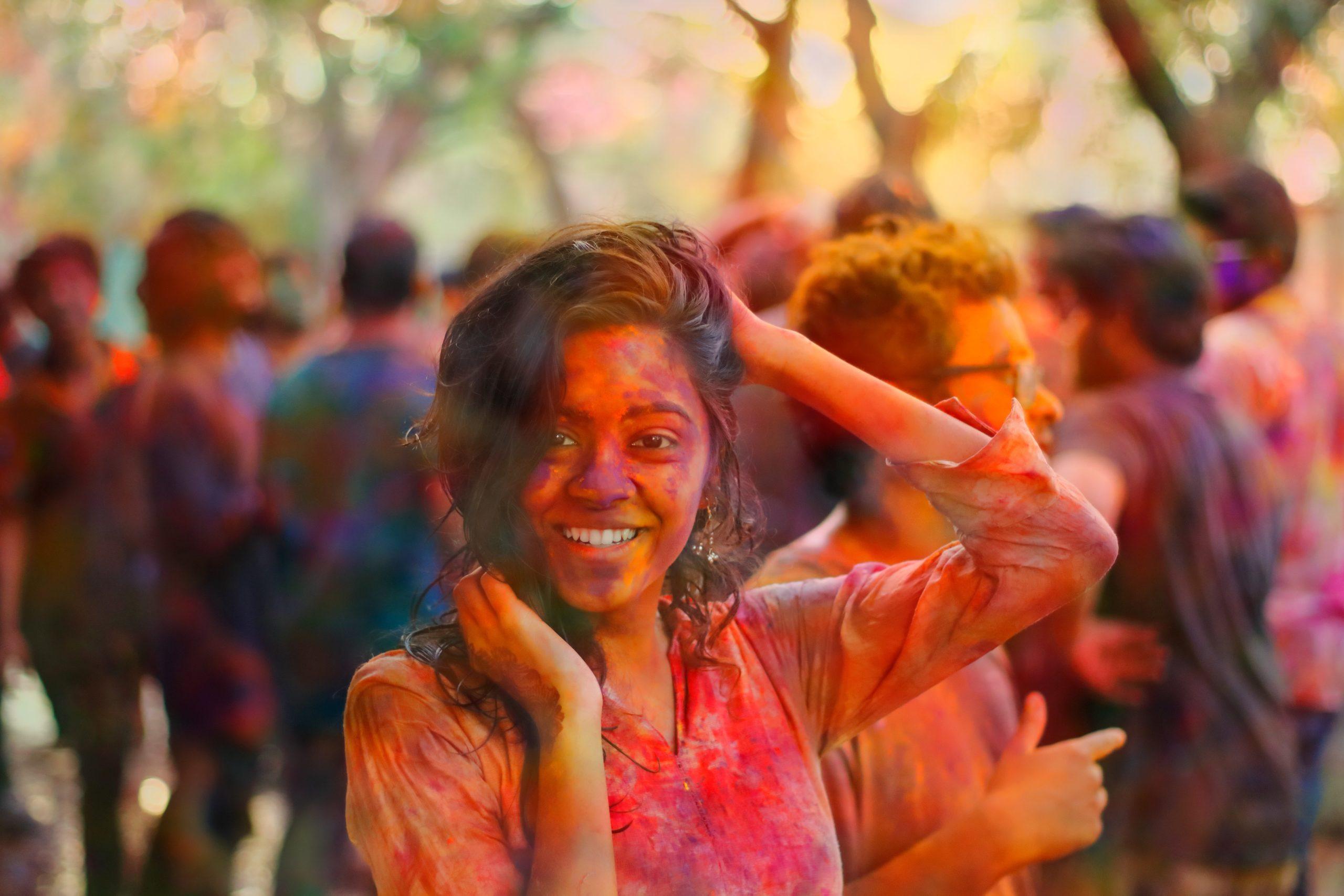 Fête des couleurs Holi Inde