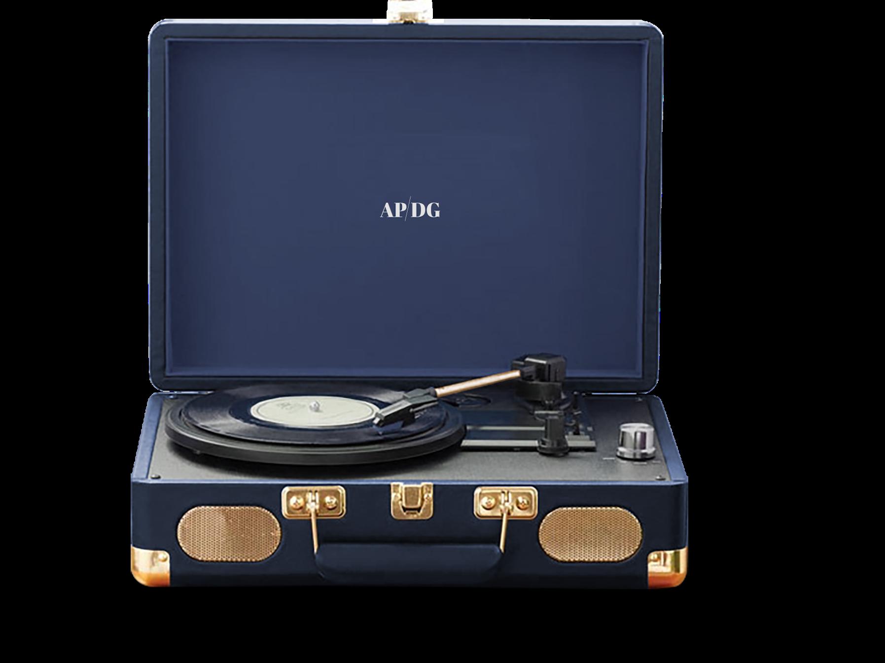 Platine vinyle valise rétro vintage